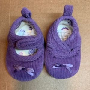 Purple newborn dress shoes